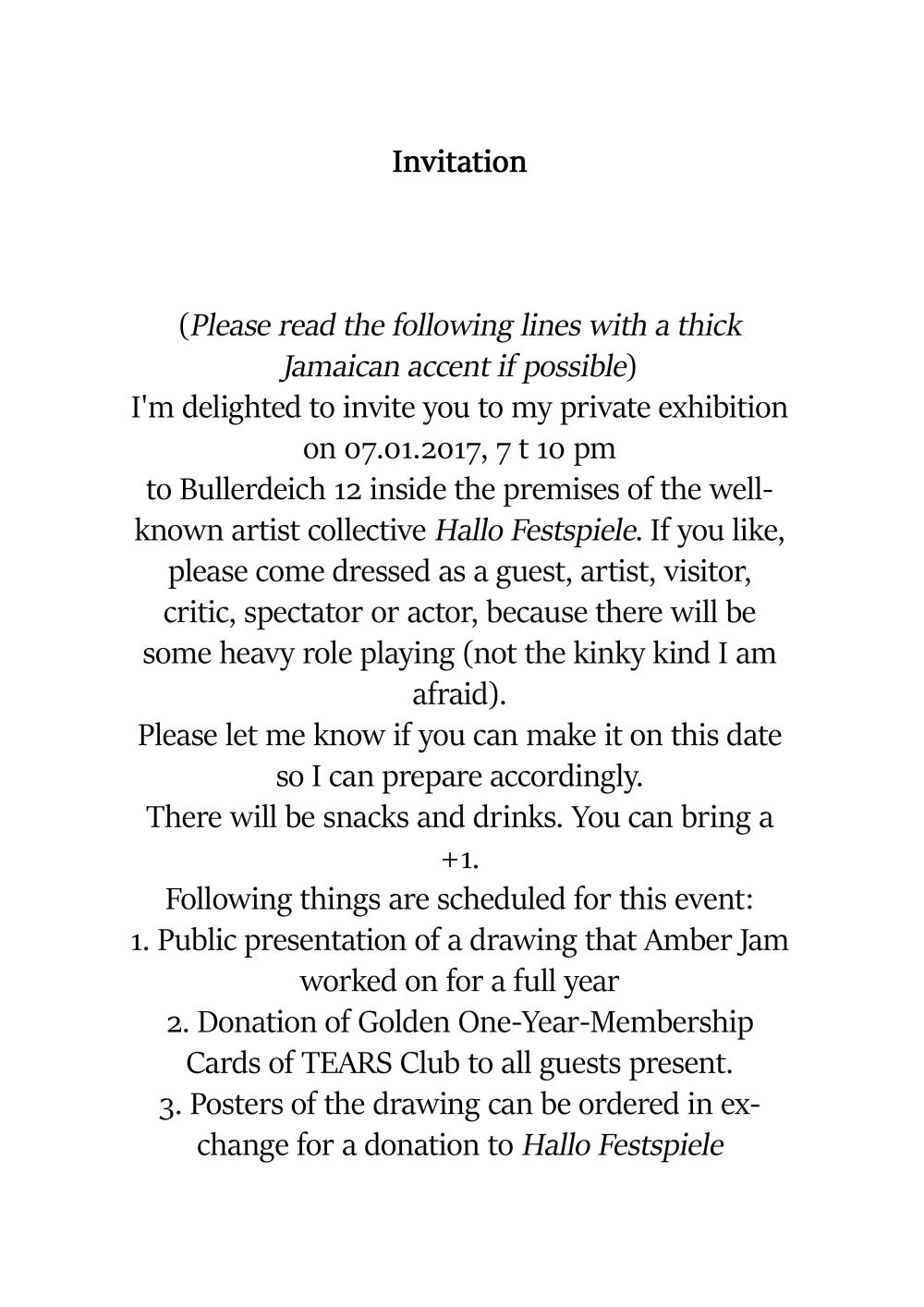 Amber Jam Invitation