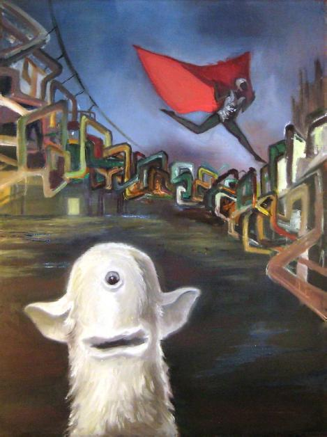 """Hero"" 2007, 60x80 cm, oil on canvas"