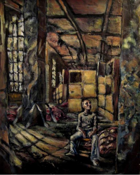 """""""Recess"""" 2005, 40x60 cm, oil on canvas board"""