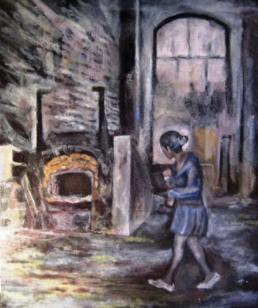 """Oven"" 2005, 40x60 cm, oil on canvas board"