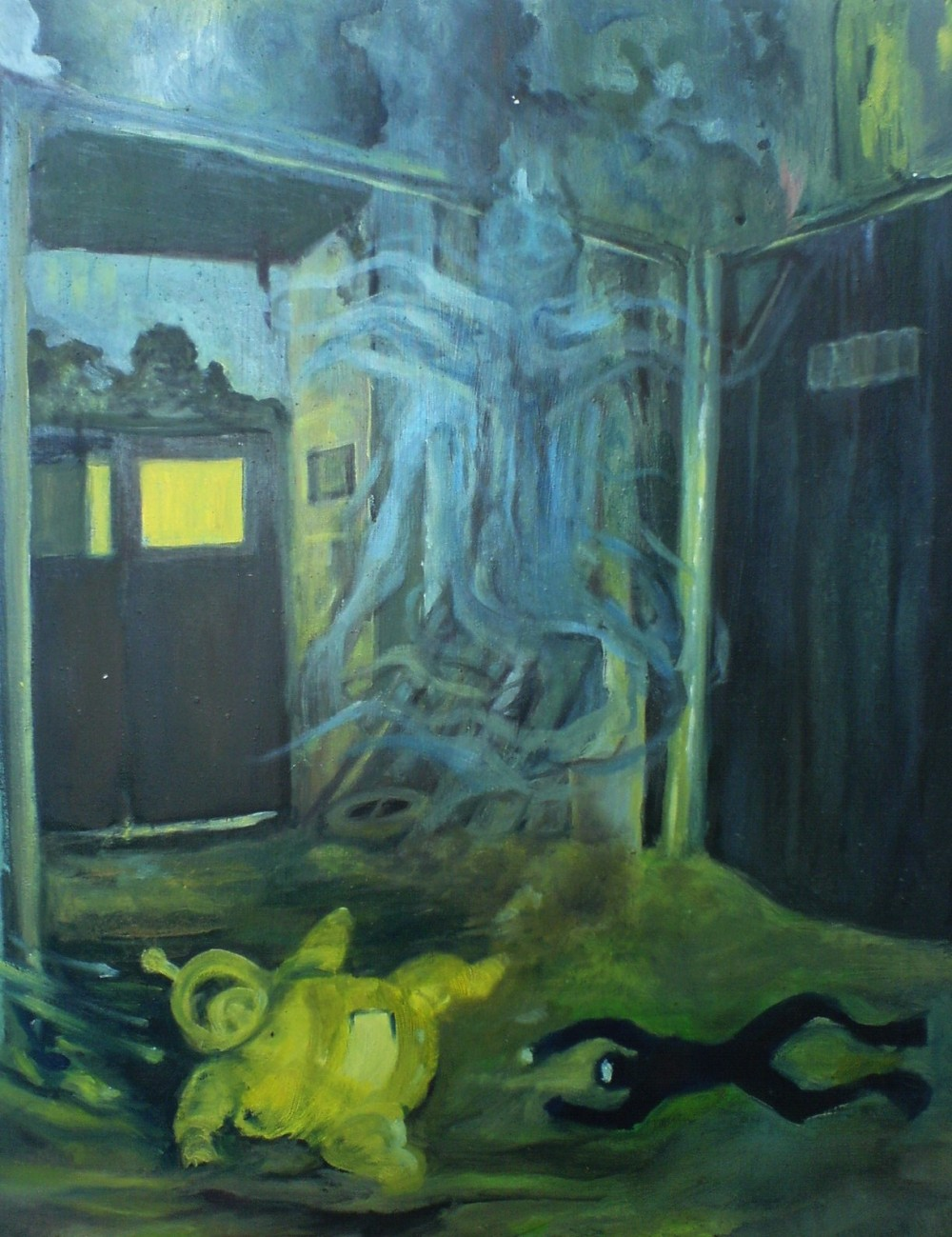 """Der Taucher"" 2006, 40x60 cm, oil on canvas board"