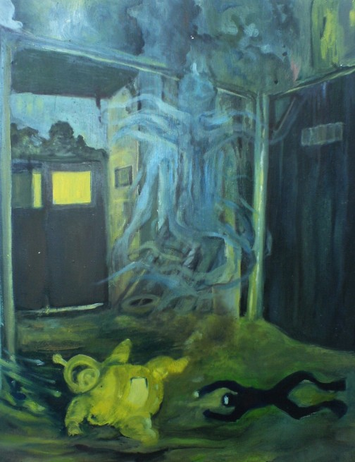 """""""Der Taucher"""" 2006, 40x60 cm, oil on canvas board"""